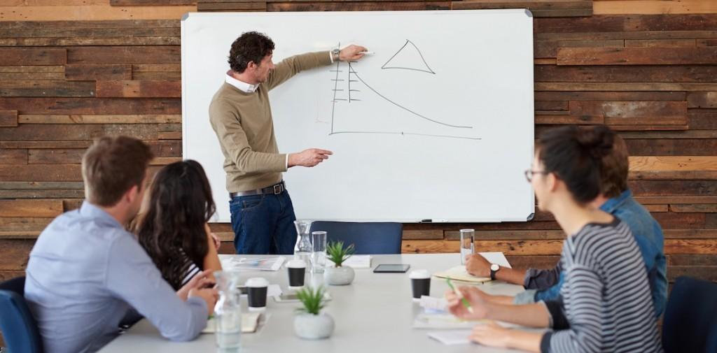 Marketing tréning üzleti prezentáció csoport